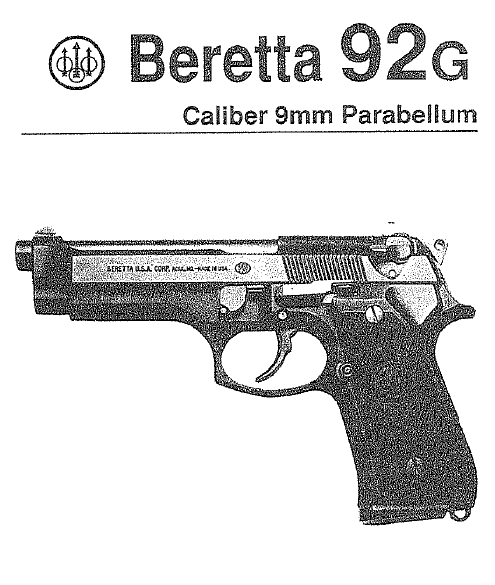 Beretta 92G Owner's Manual
